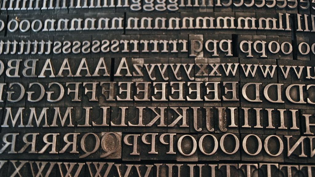 Plantin letterpress